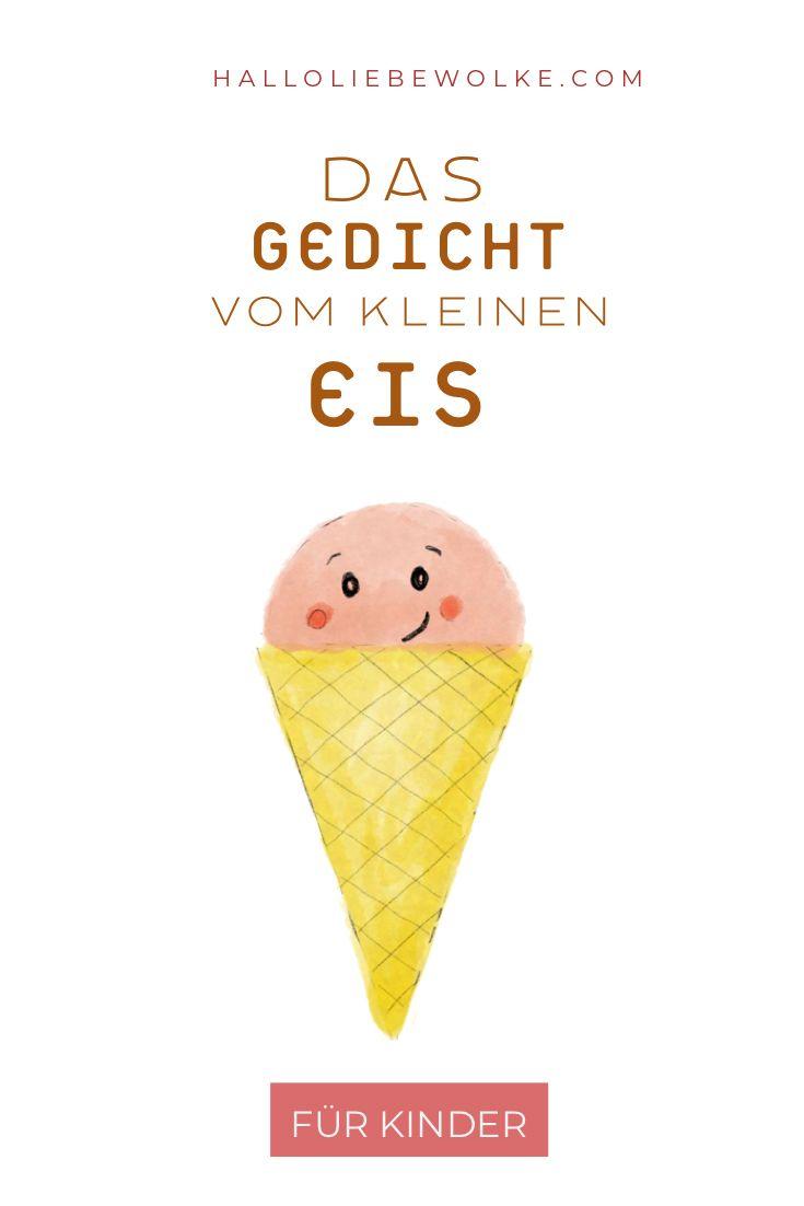 Das Gedicht vom kleinen Eis ist eine kleine Geschichte in Reimform für Kinder im Sommer. #freebie #kostenlos #eis #sommer