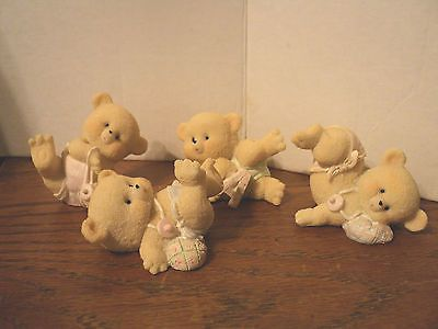 home interiors kids baby bear figurines lot of 4 | home interior