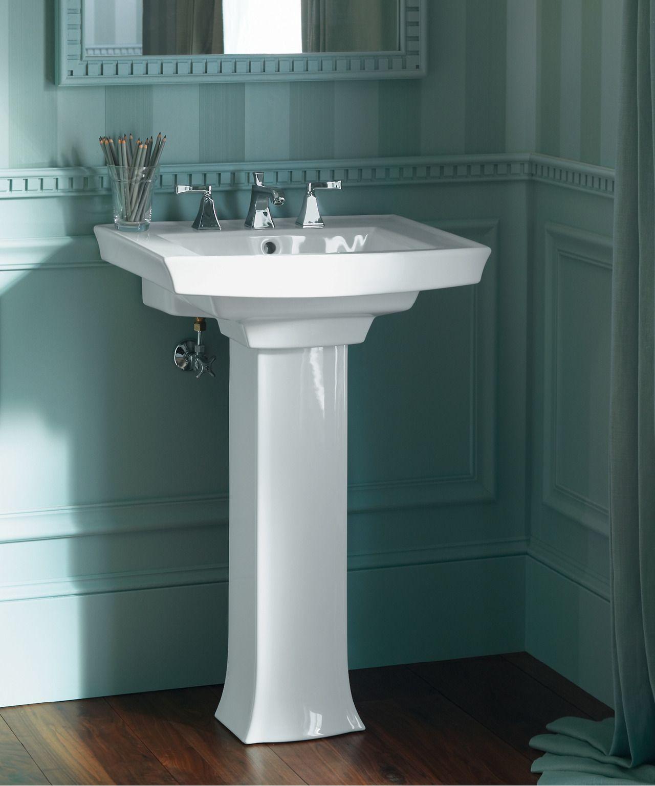 The Bold Look Of Kohler Pedestal Sink Pedestal Sinks Kohler Archer