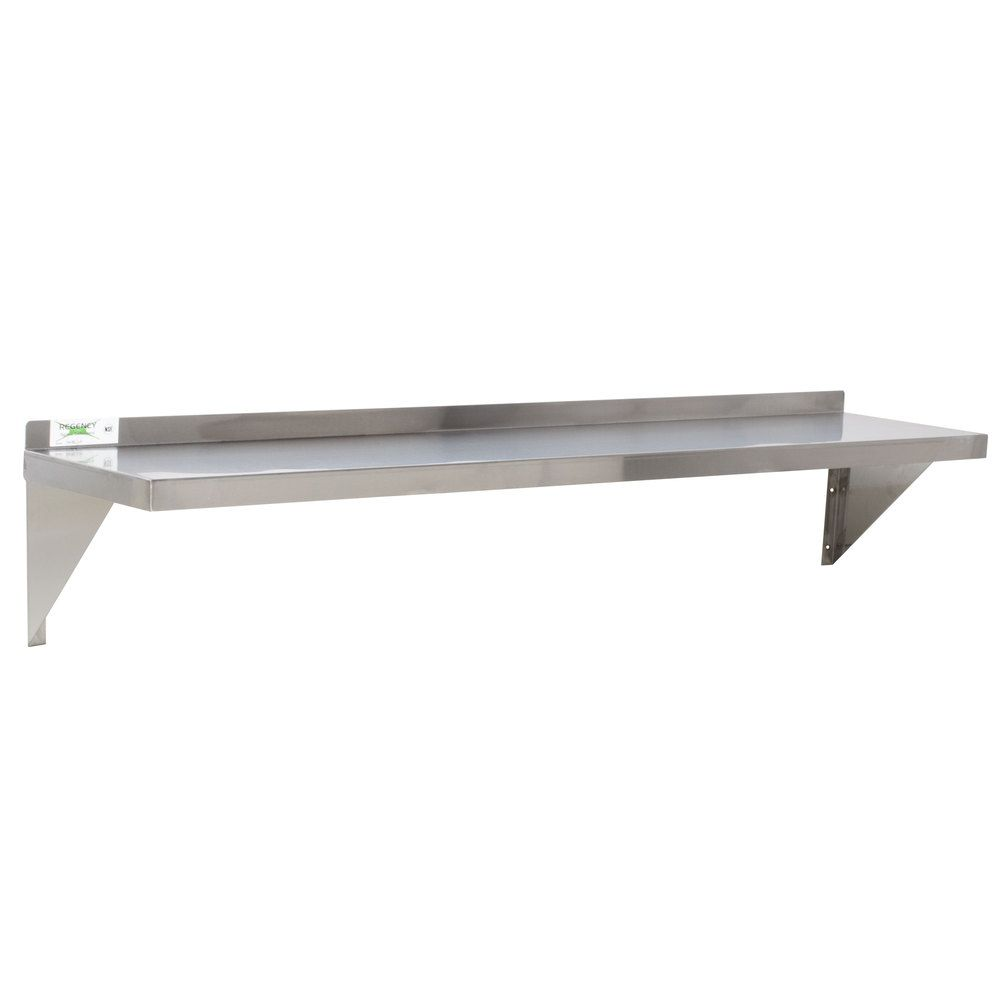 Regency Gauge Stainless Steel X Heavy Duty Solid Wall - Stainless steel table with lip