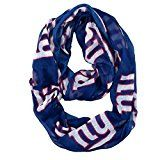 NFL New York Giants Sheer Infinity Scarf One Size Blue