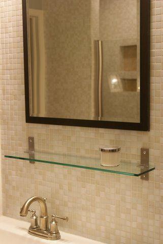glass tile backsplash bathroom For the Home Pinterest Mosaic