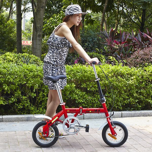 New Cool Mini Folding Bicycle Easy Carry 12 Inch Folding