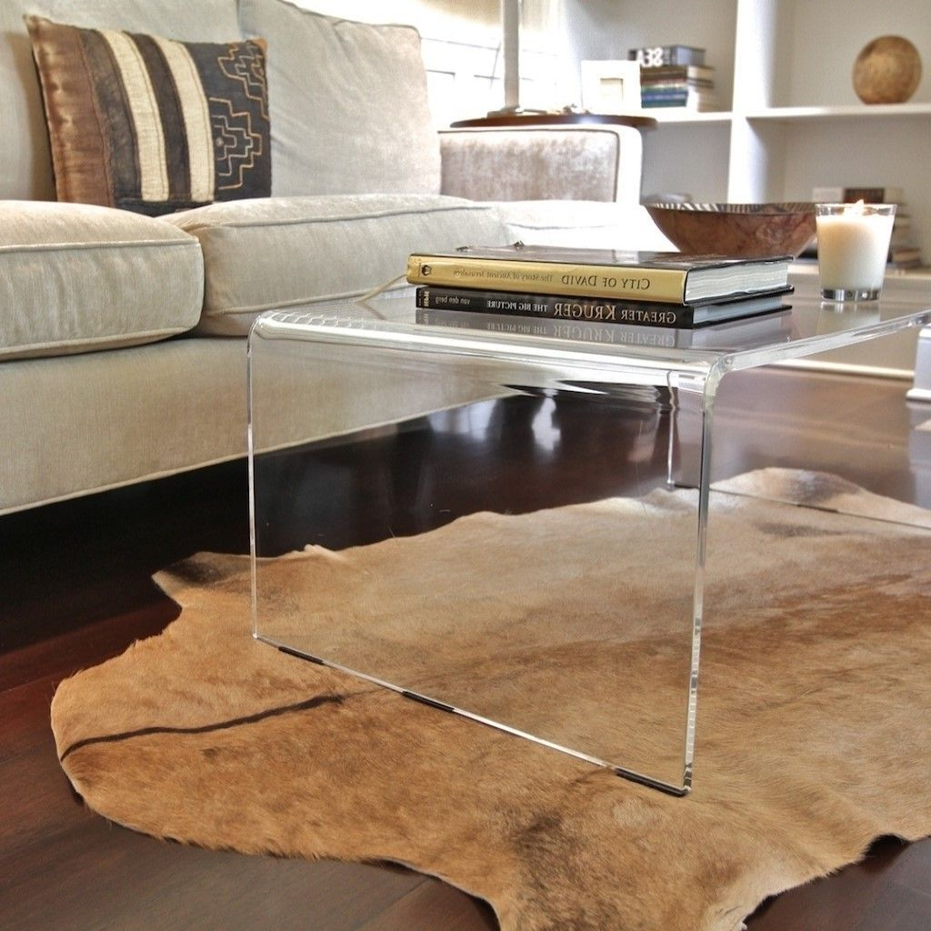 Furniture Clear Contemporary Glass Waterfall Coffee Table Designs For Living Room Arrangement Ideas Furniture Coffee Table Contemporary Living Room Furniture [ 1024 x 1024 Pixel ]