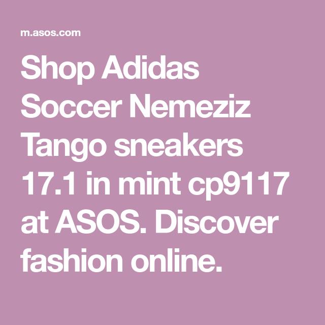 official photos 4ae34 e24d6 Shop Adidas Soccer Nemeziz Tango sneakers 17.1 in mint cp9117 at ASOS.  Discover fashion online.