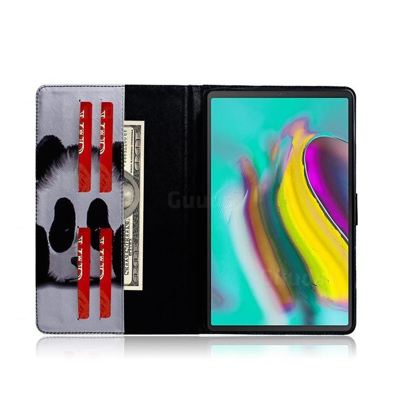 2019 的 Sleeping Panda Painting Tablet Leather Wallet Flip Cover for