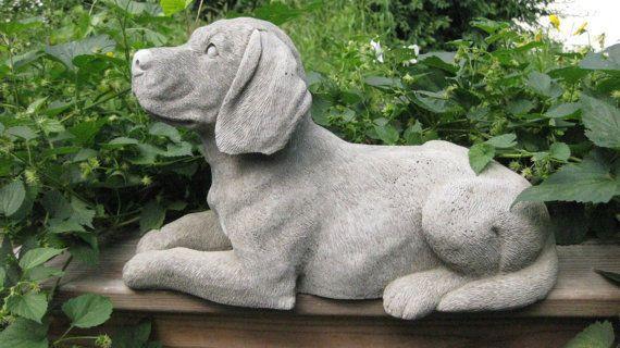 Concrete Beagle Dog Statue For Judy