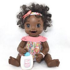 Baby Alive Learn To Potty Htf African American Black Hair Doll Soft Face 11 Black American Hair Baby Alive Baby