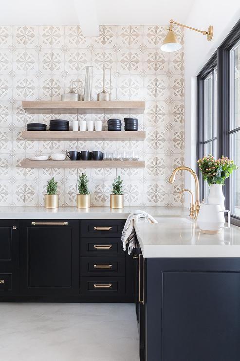 Black shaker kitchen cabinets from Alyssa Rosenheck - Nicole Davis ...