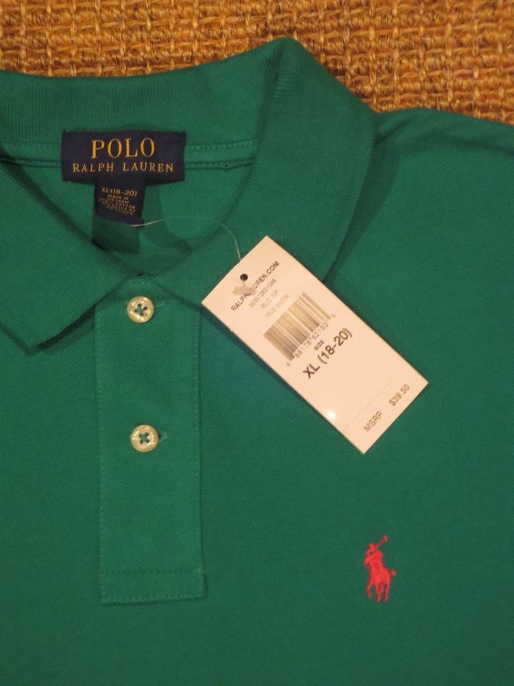 5b0a5fce NEW POLO RALPH LAUREN BOY'S POLO SHIRT XL X LARGE 18 / 20 NWT # PoloRalphLauren