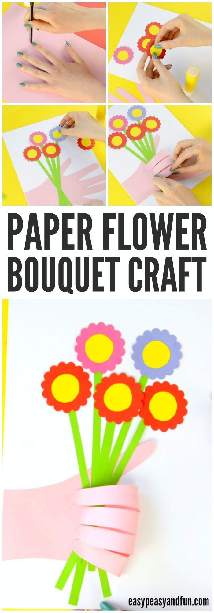 Handprint Flower Bouquet Craft - Mother\'s Day Idea | Pinterest ...