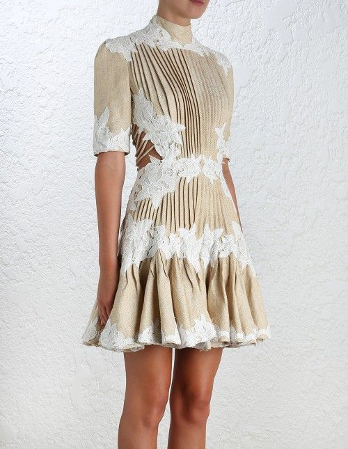 Zimmermann Mischief Rosette Laced Dress, Spring 2016 collection, in ...