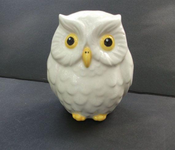 Ceramic Owl Bank Piggy Bank    Glazed Bright by StrokesofMadness, $12.50
