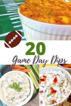 These dip recipes are not only perfect for game day but for any party or shower. From hot dips and cold dips there are many great game day food ideas here.#gamedayrecipes #appetizerdips #diprecipes #partyfood #footballfood #hurricanefoodideas