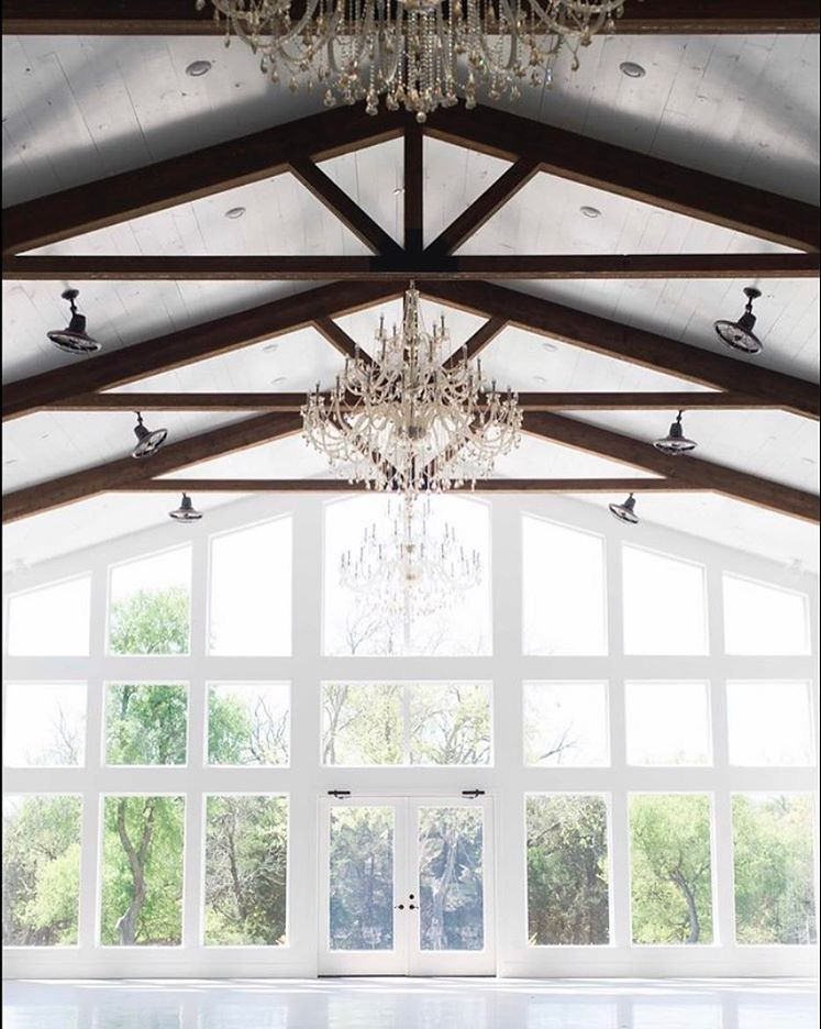 Firefly Gardens Is A New Wedding Venue In Dallas Fort Worth Perfect For Modern Barn Just Look At The White Walls Wood Beams And Chandeliers