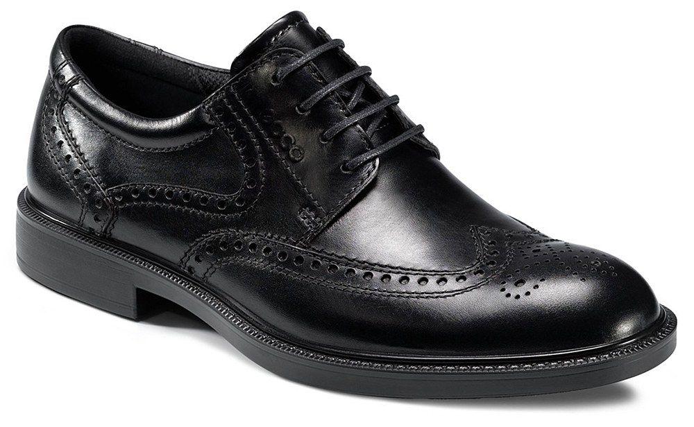 Ecco Atlanta Mens Brogue Detail Lace Up Formal Shoe 610124-21001 - Robin  Elt Shoes