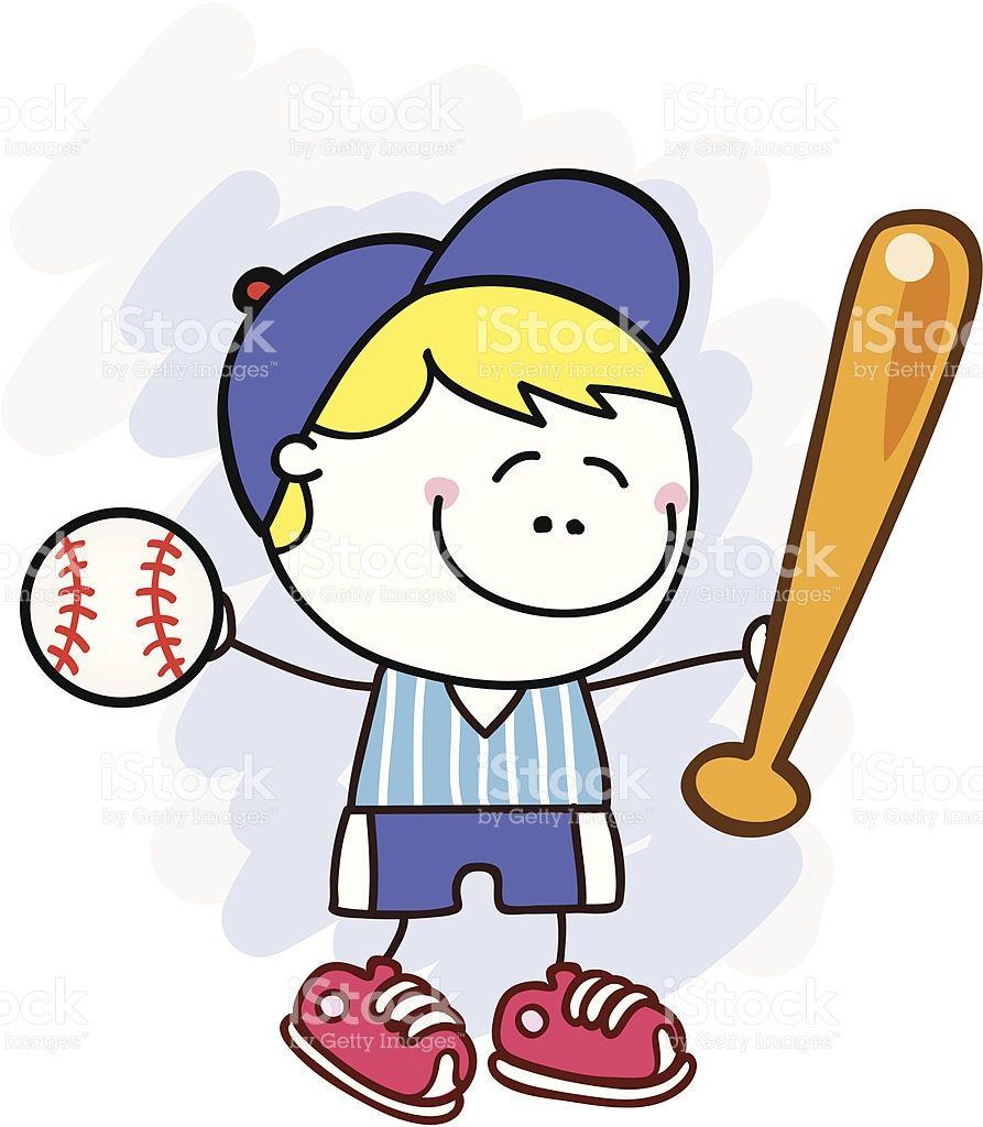 Baseball Player Cute Kid Cartoon Cartoon Kids Cartoon Illustration Cartoon Art