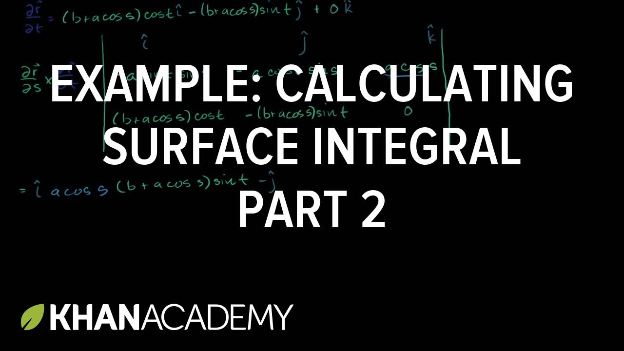 Example Of Calculating A Surface Integral Part 2 Multivariable Calculu Mathematics Math Surface