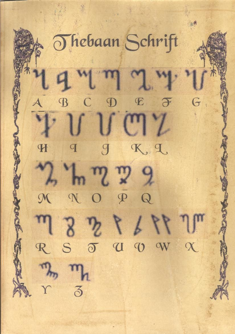 Use This Magical Alphabet To Inscribe Your Candles And Spells The