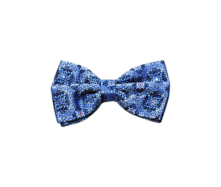 BLUE PATTERNED BOW TIE. Price: Rs 2490/-