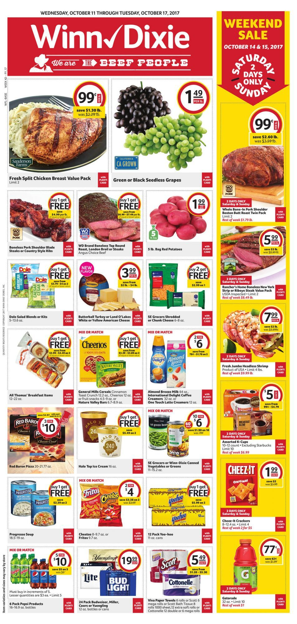 WinnDixie Weekly Ad October 11 17 grocery savings WinnDixie