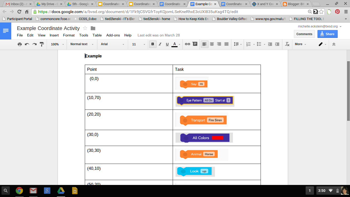 5th Grade Math Coordinates And Dash