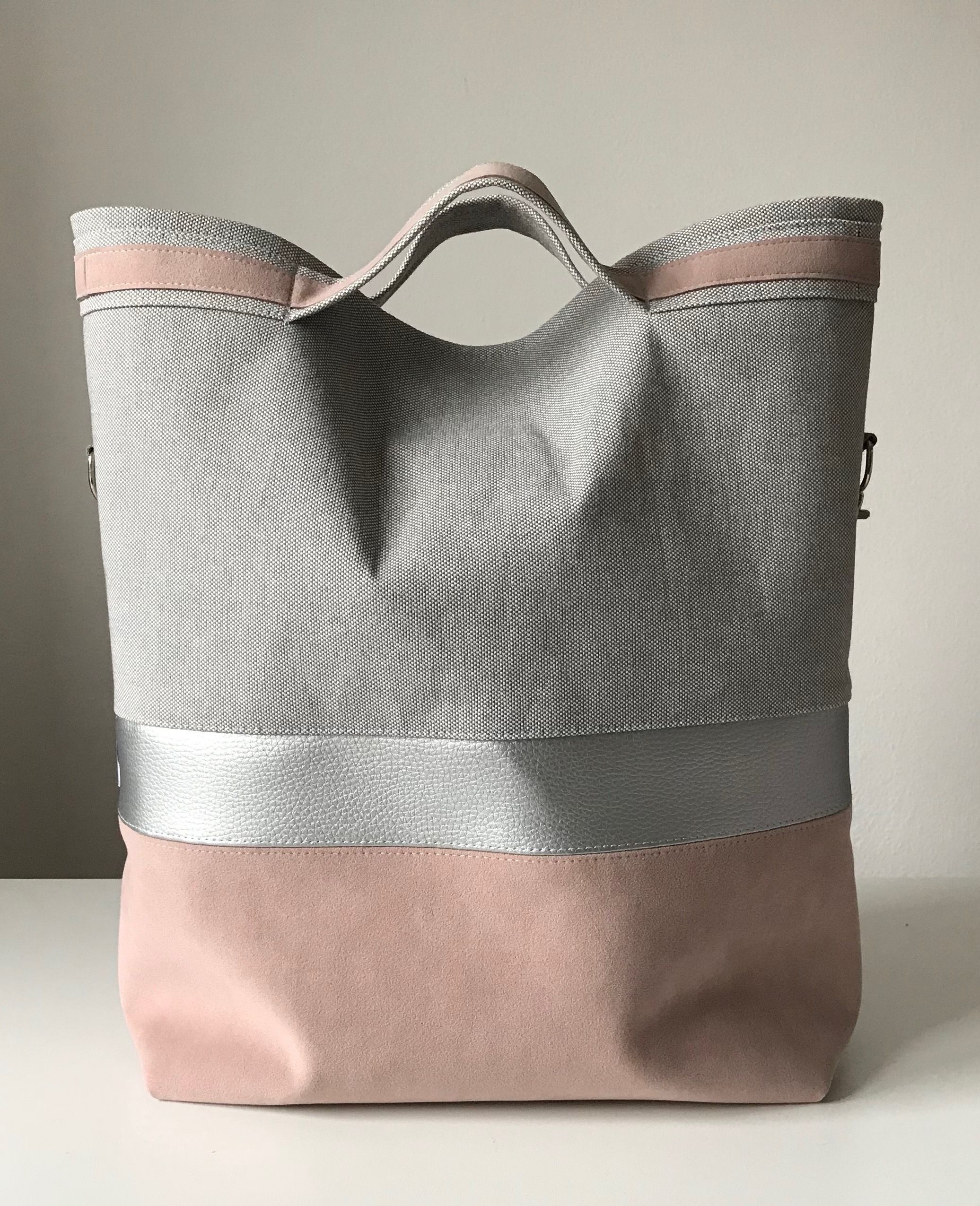 Shoulderbag, rose, silver, grey, 4 1, velur,. Find this Pin and more on Bags  ... 09f3fb9f27