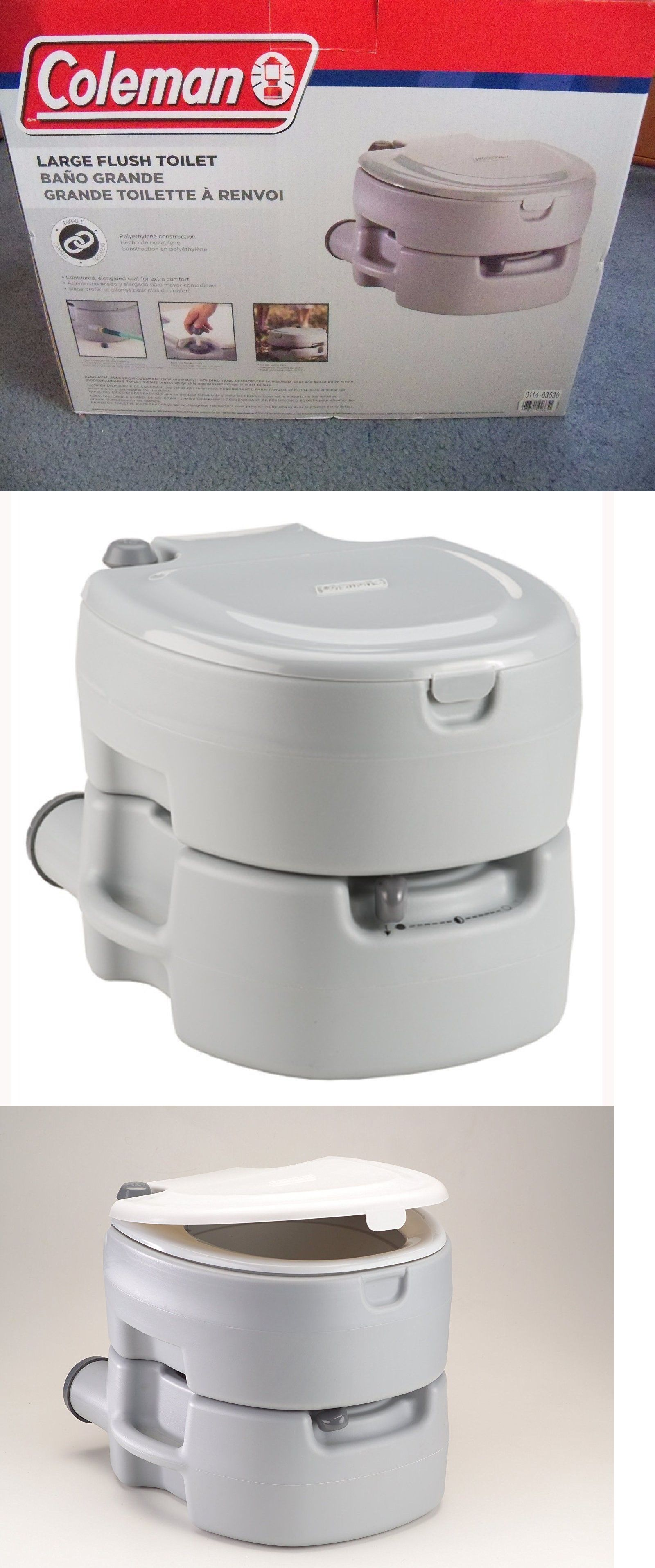 Other Camping Hygiene Accs 181400: New Coleman Large Portable Flush Toilet  BUY IT NOW ONLY