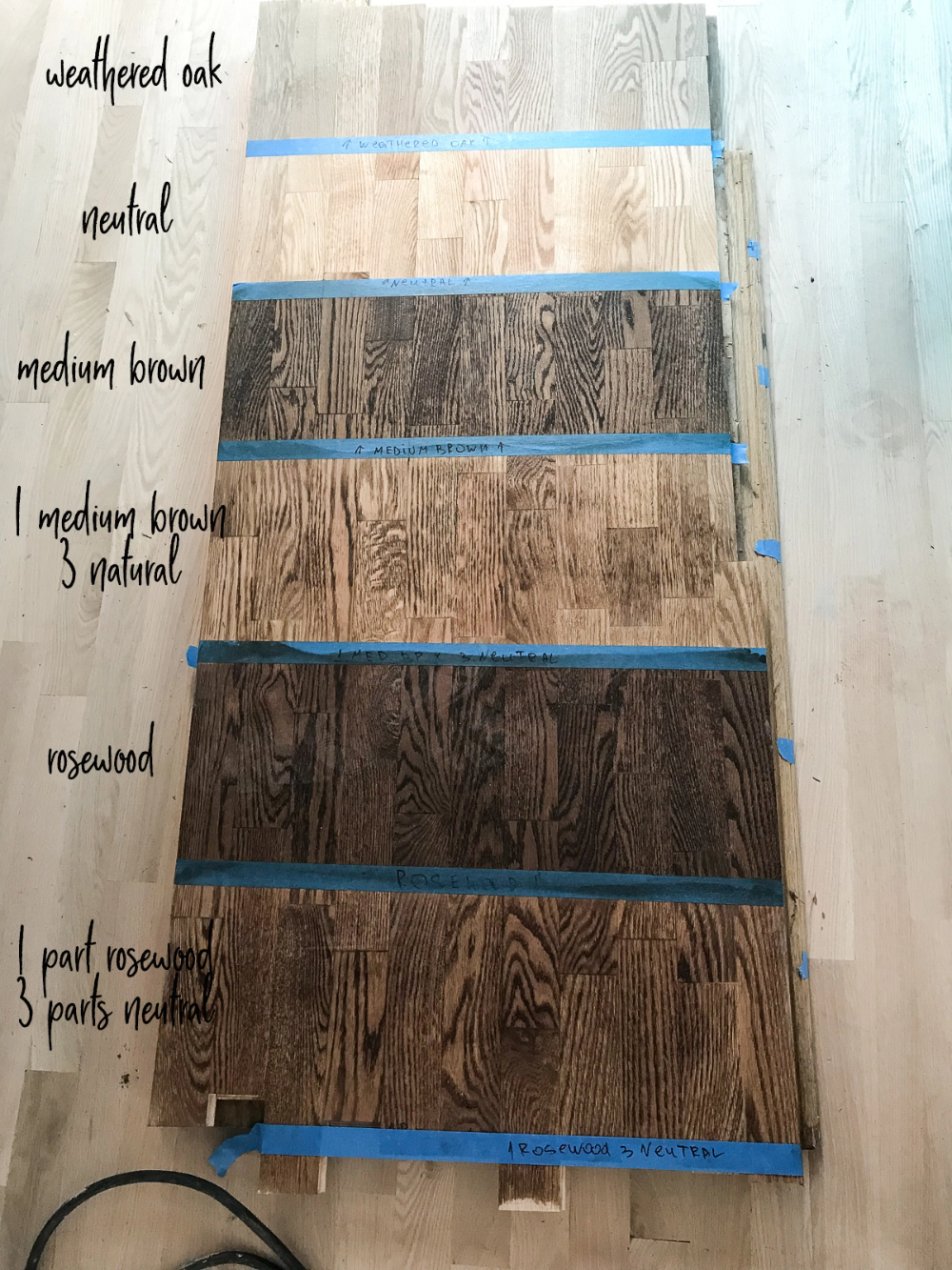 Red Oak Floor Stains – Photo Guide