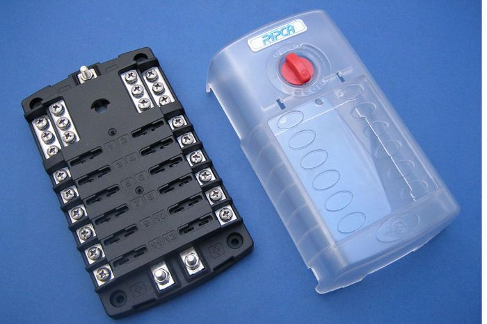 Product Image For 12 Way Fused Distribution Board Distribution Board Fuses Parts And Accessories