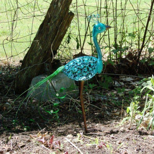 Peacock Garden Statue Ornament