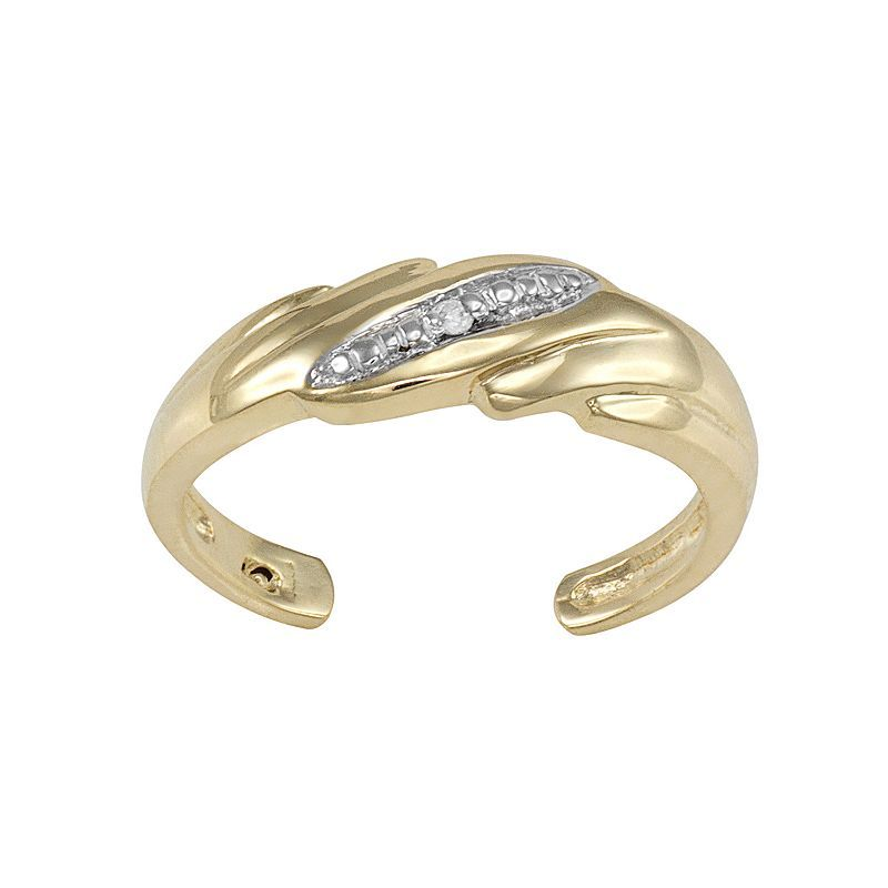 Diamond Accent 10k Gold Toe Ring Toe Rings Gold Toe Gold Toe Rings