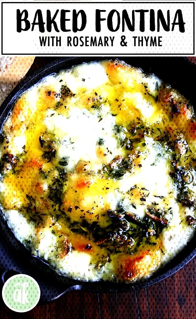 The Barefoot Contessa's Baked Fontina with Rosemary and Thyme: To die for! This appetizer is super