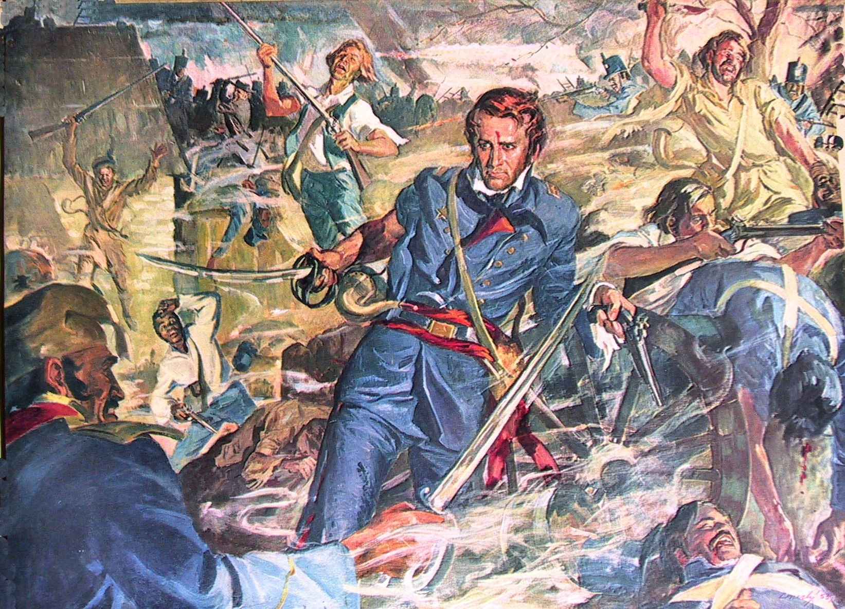 A Romanticized Version Of Commander William Barrett Travis