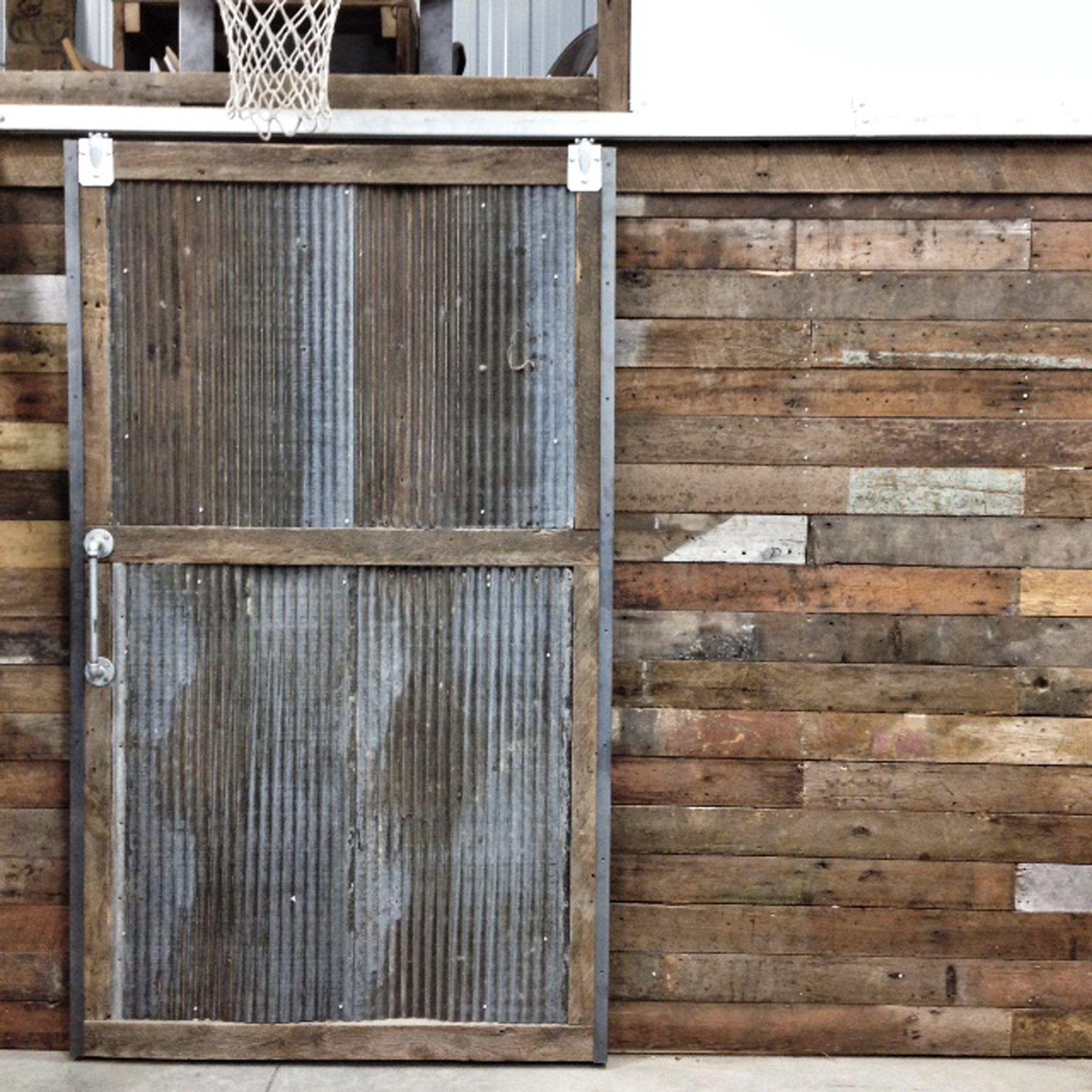 Reclaimed Wood Sliding Barn Doors Residential Commercial Barn Doors Sliding Metal Barn Corrugated Metal