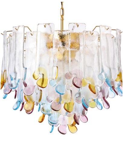 Pastel coloured chandelier