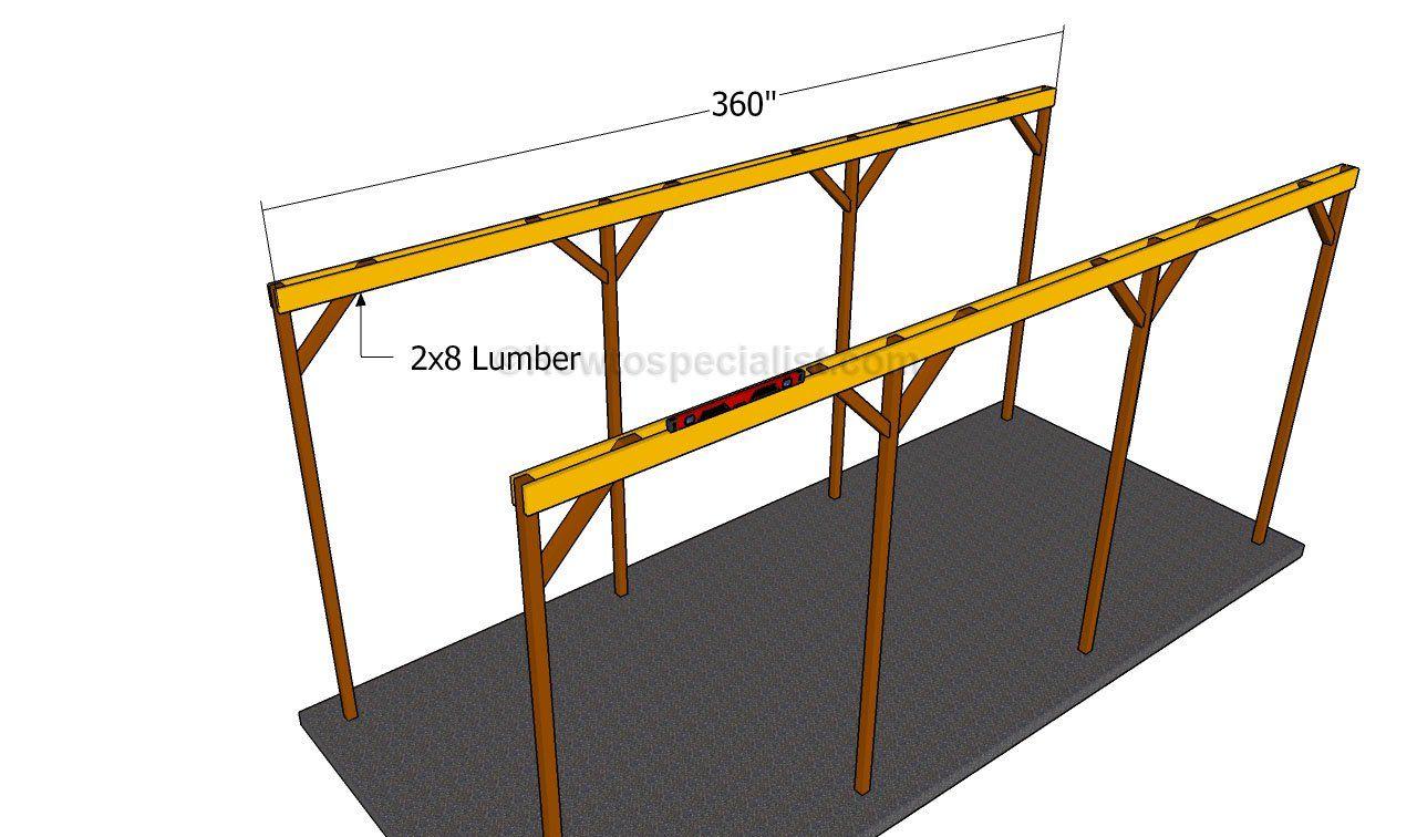 How to build a wooden carport Wooden carports, Building
