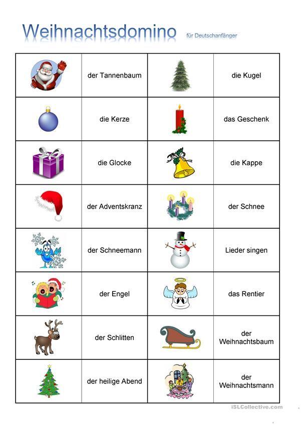 Weihnachten - DOMINO | Weihnachten (Deutsch für Kinder) | Pinterest ...