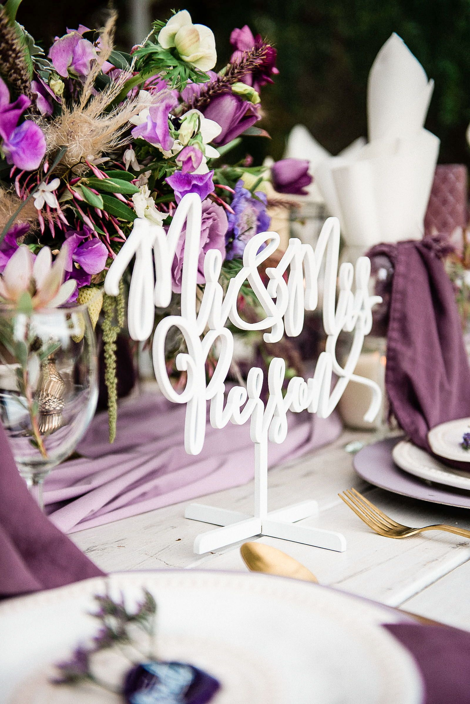 Mr Mrs Name Sign For Wedding Table Decor Handmade Wedding Decor Gifts At Www Zcreatedesi Wedding Table Wedding Centerpieces Beautiful Wedding Centerpiece