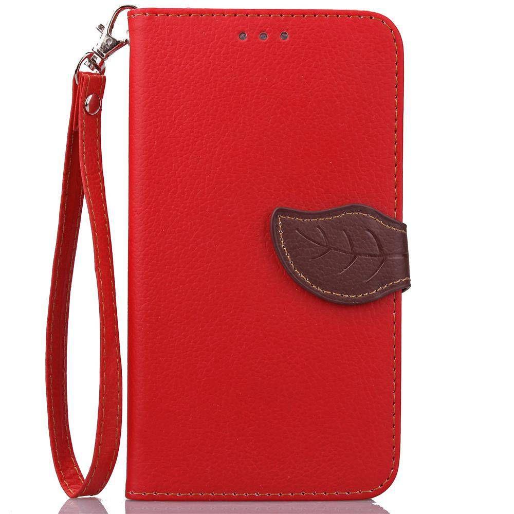 Leaf Case Huawei Honor 4X Cover Women s Style Flip PU Leather TPU Handbag Case  Huawei Honor 7a4203f09