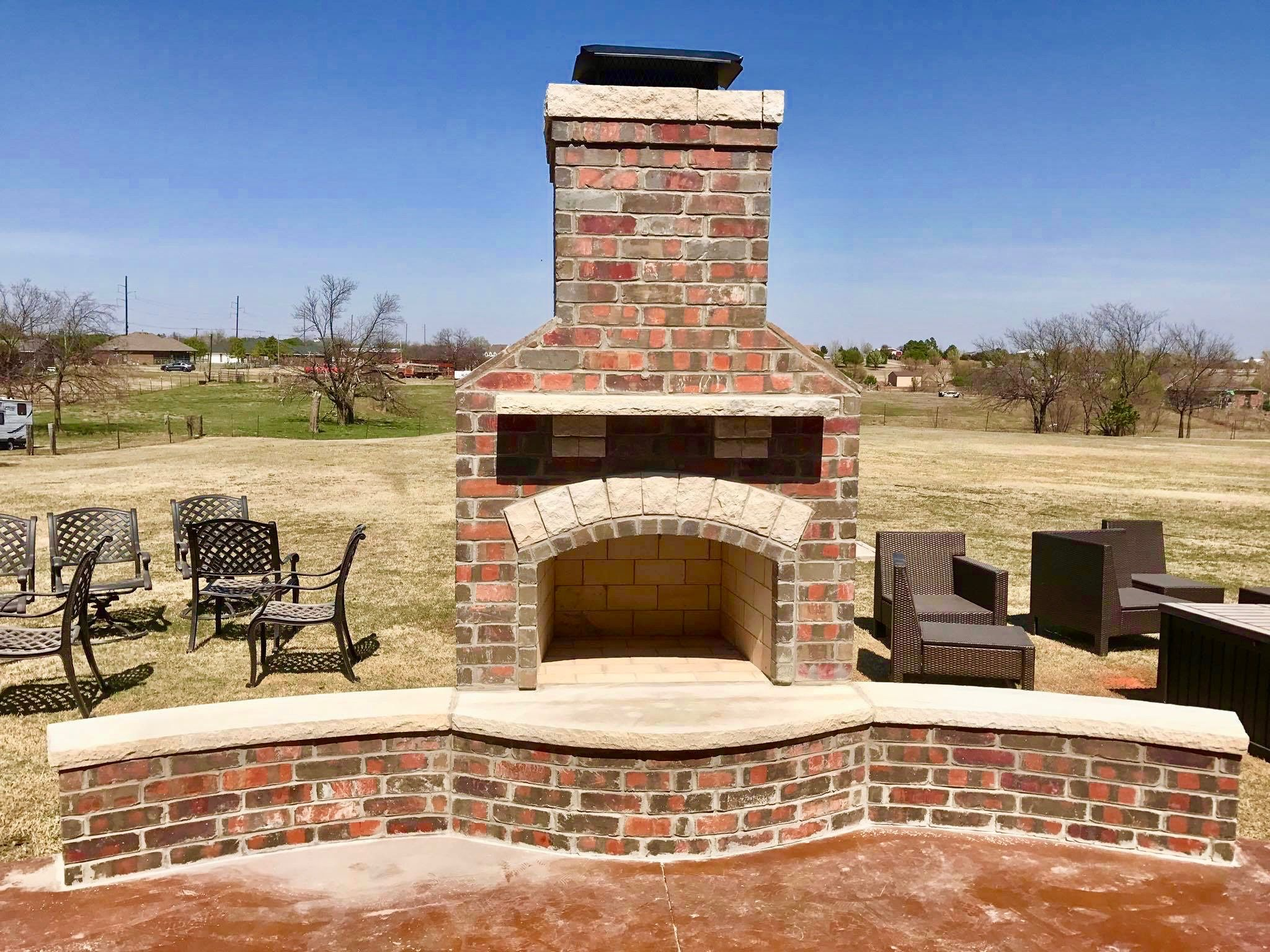 Pin by PMHOKC.com on Custom Outdoor Fireplaces | Fireplace ... on Simple Outdoor Brick Fireplace id=60766