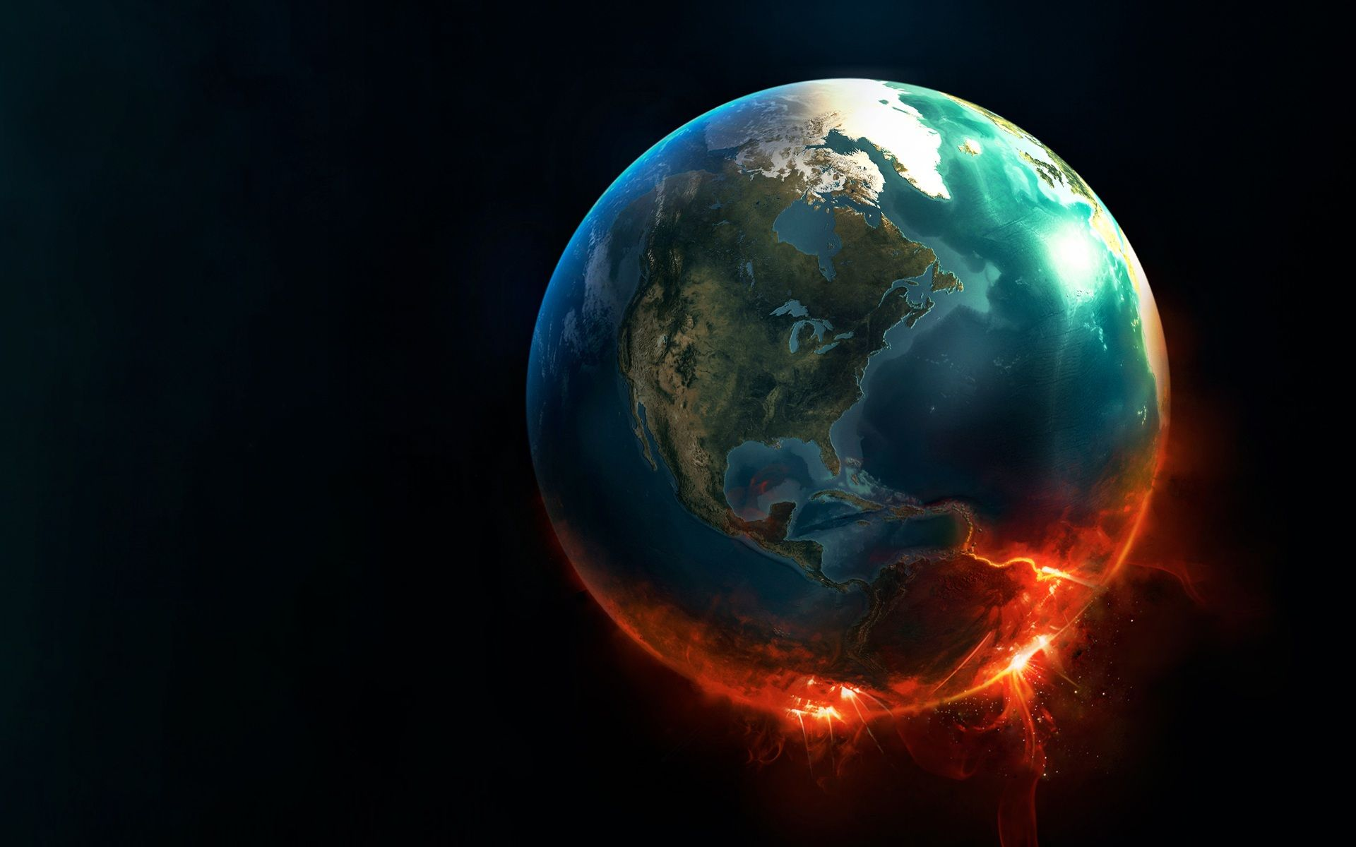 #Global #Warming #Digital #Artwork 3D Desktop #Wallpaper ...