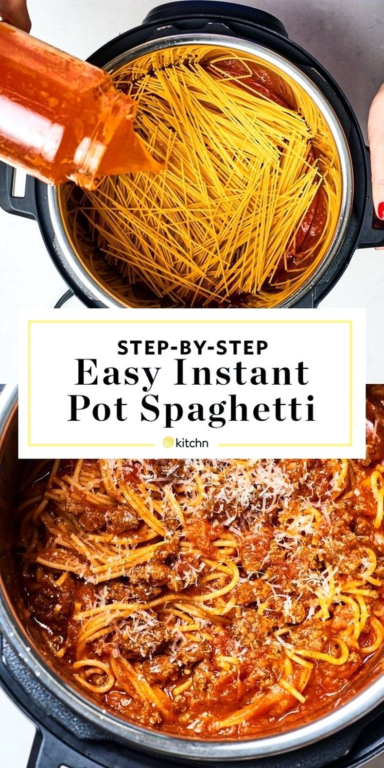 How To Make the Best Instant Pot Spaghetti #instantpotrecipesforbeginners