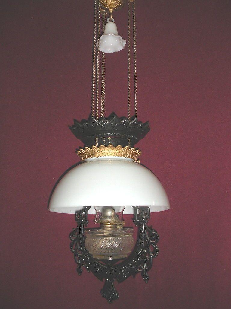 Regent antiques lights antique victorian oil lamp c 1860 - Antique1877 Bradley Hubbard Hanging Oil Lamp Adjusts Ebay 450 Victorian Lightingvictorian