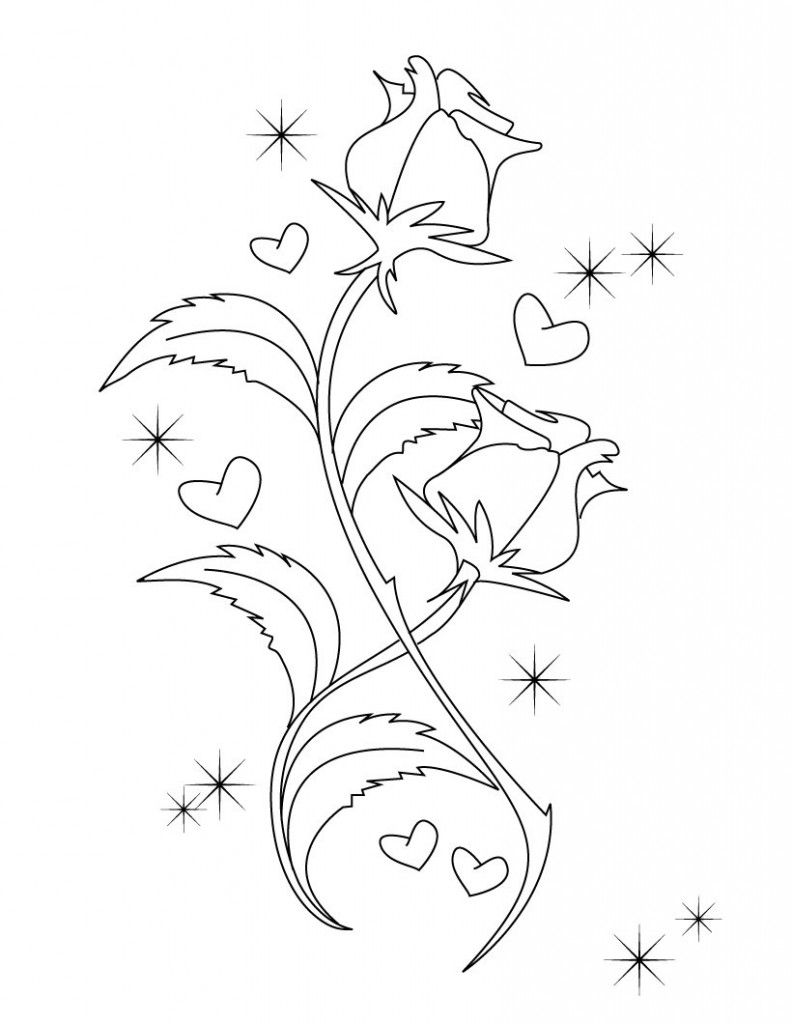 Free printable valentine coloring pages kids