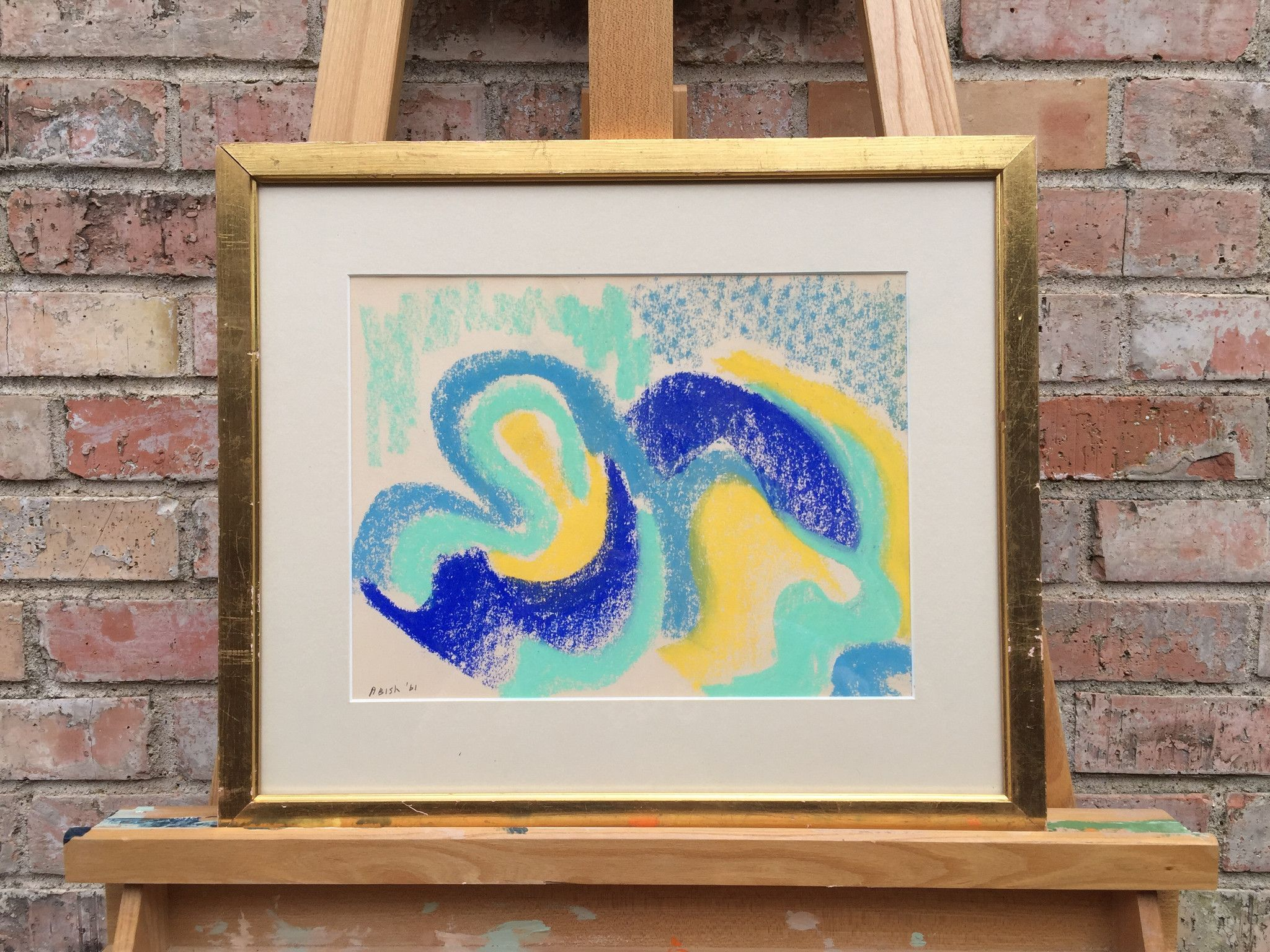 Modern Abstract, pastel on paper