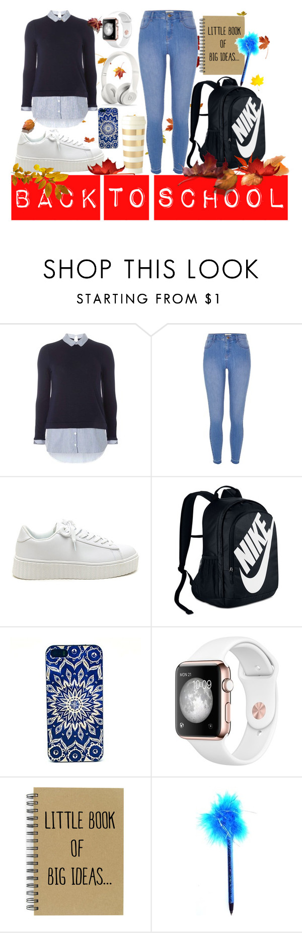 """Back To School"" by nora-jakucs ❤ liked on Polyvore featuring Dorothy Perkins, River Island, NIKE, Beats by Dr. Dre, Kate Spade, men's fashion and menswear"