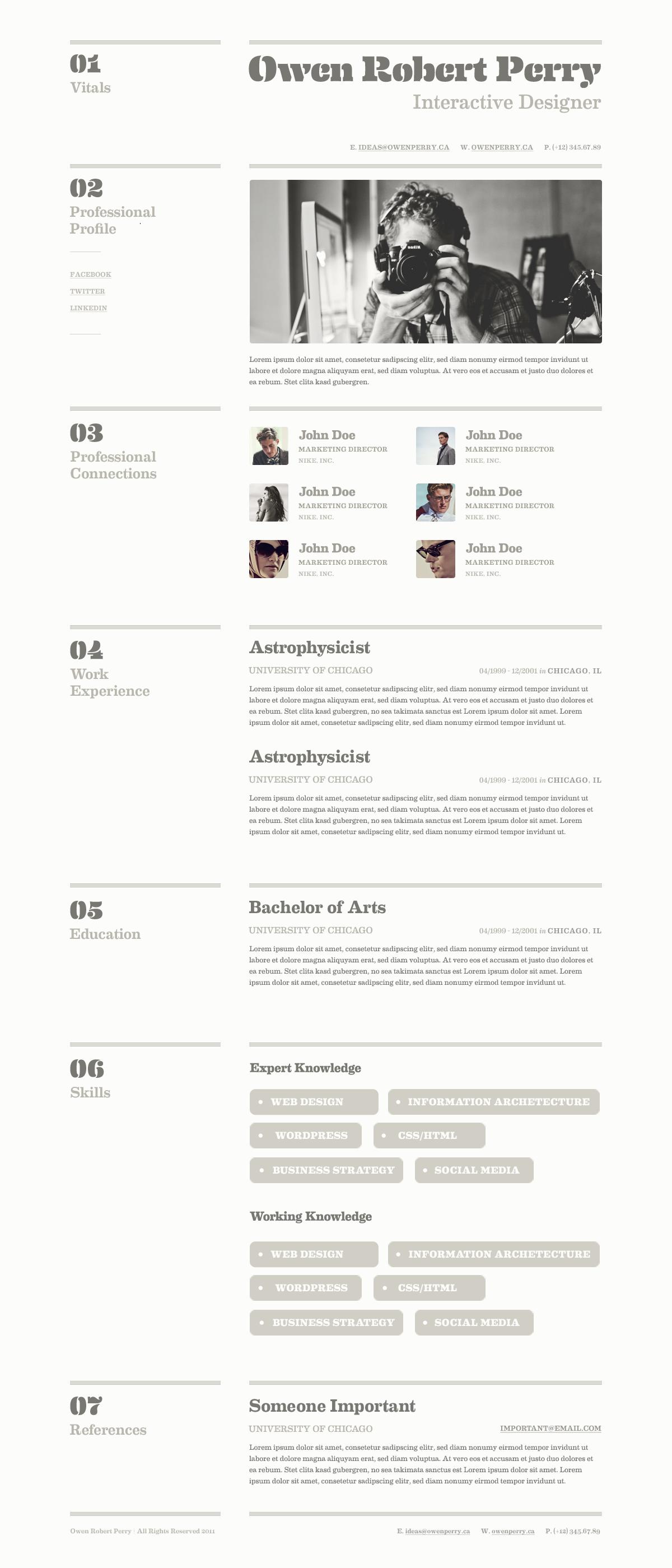 Resume Design Resume design layout