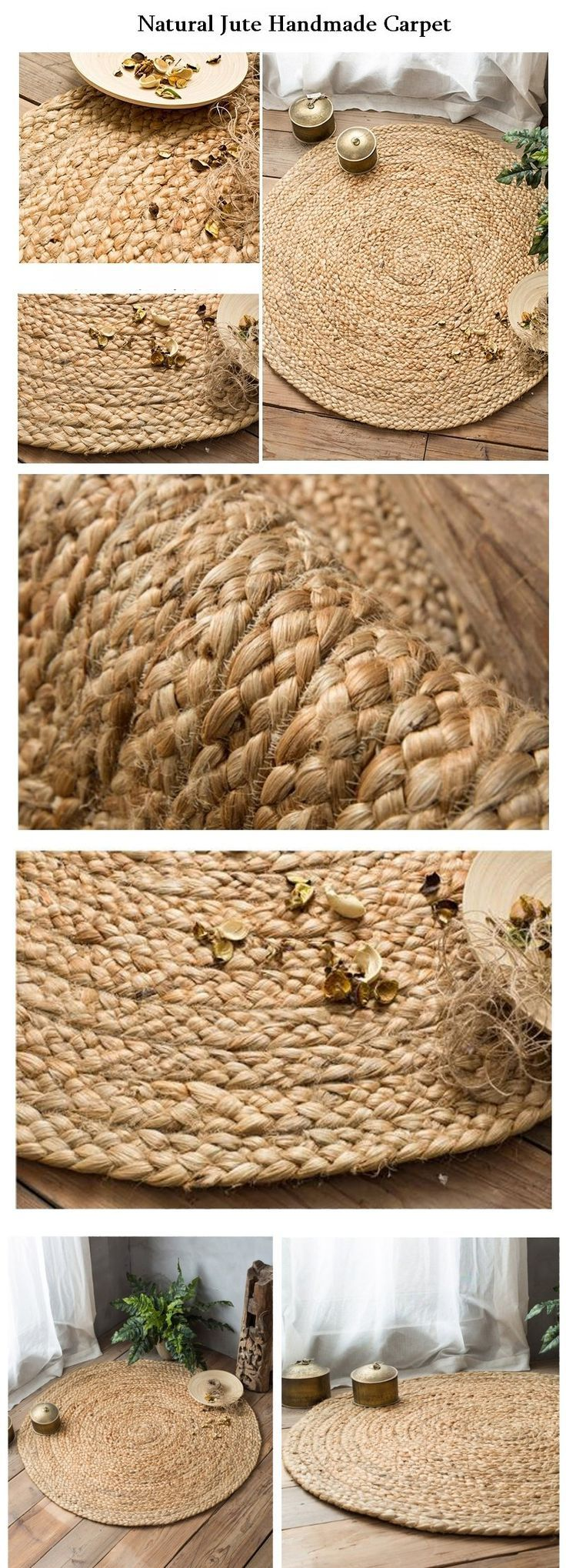 handmade india jute floor carpet round and rugs natural color housewarming ts ideas pinterest on also rh