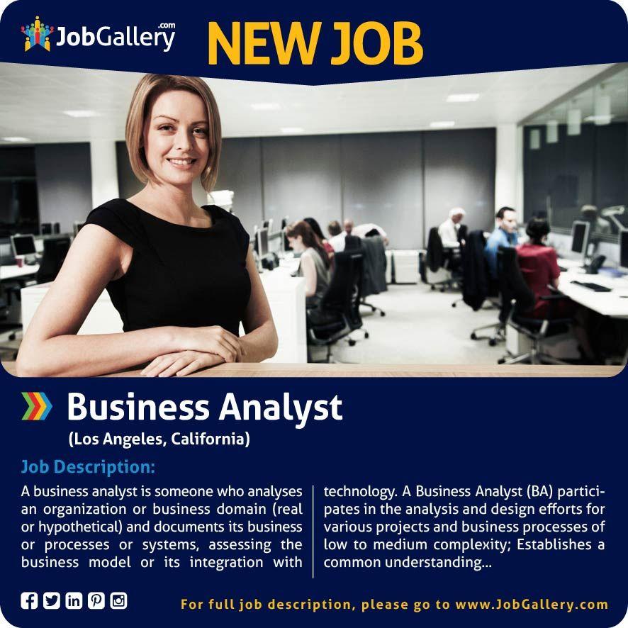 SEEKING A BUSINESS ANALYST - LOS ANGELES, CA #jobs #jobopening - business development job description